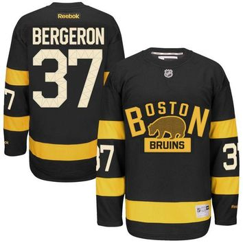ONETOW Patrice Bergeron Boston Bruins 2016 NHL Winter Classic Premier Replica Jersey