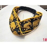 GUCCI Summer Newest Women Cute Gold Elephant Pink Strawberry Jacquard Sport Headwrap Headband Warmer Head Hair Band 1#