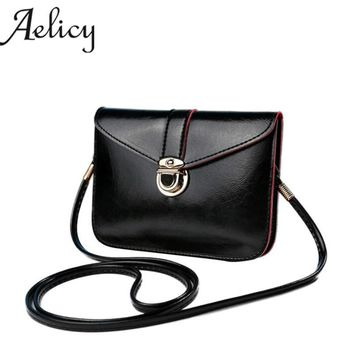 Aelicy Fashion Zero Purse Bag Leather Handbag Single Shoulder Messenger Phone Bag  Simple and generous Women Girls 1277