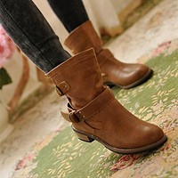 Slouch Ankle motorcycle boots