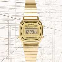 Casio Gold Face Watch - Urban Outfitters