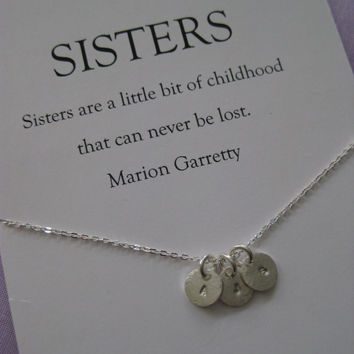 Sisters jewelry // Sisters necklace // Three sisters jewelry. Delicate sterling silver // Inspirational Gift