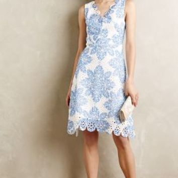 Starflower Scalloped Dress by Eva Franco Blue Motif