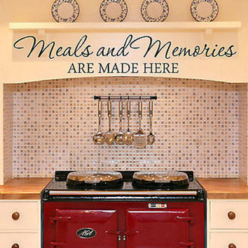 Meals and Memories Kitchen Quote Vinyl Wall Decal Sticker