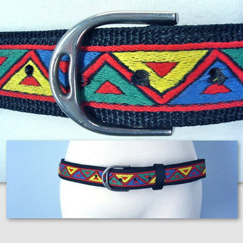 Vintage 80s Southwestern Belt Native American Ethnic Belt