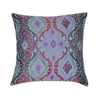 "22"" x 22"" Purple Damask Decorative Pillow"