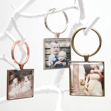 Custom Photo Keychain for Mom,Personalized Gift for Mothers Day,personalized birthday gift for him her,mothers day gift,Picture Keychain