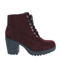 Suede Chunky Heel Ankle Bootie