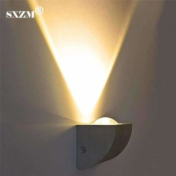 SXZM 3W Fashion modern LED wall light AC110V 220V Up Spot Light Sconce Lighting indoor Decor Fixture Hall Porch Bulb Lamp