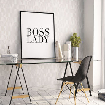 OFFICE DECOR,Boss Lady,Like A Boss,Office Sign,Girls Room Decor,Girls Bedroom Decor,Gift For Her,Nursery Girls,Wall Art,Quote Prints,Instant