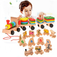 New Funny Education Toy Stacking Train For Kids Children