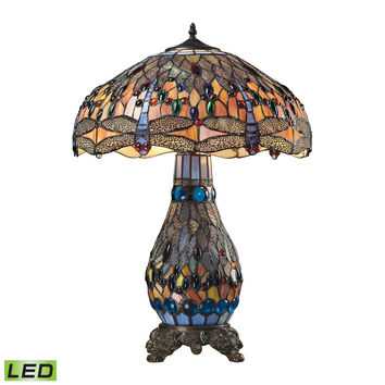 Dragonfly 3 Light LED Table Lamp In Dark Bronze Dark Bronze