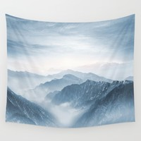 Cross Mountains Wall Tapestry by Viviana Gonzalez