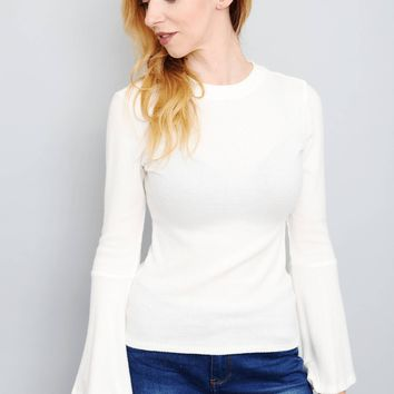 Ribbon Back Sweater Top