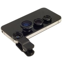 Blck Universl Clip-on 180 degree 3 in 1 Fisheye+Wide ngle+Mcro Cmer Lens for iPhone 5 5S 4 4S 6 Smsung Glxy S5/S4/S3 Note 4/3/2 HTC Blckberry Bold Touch, Sony Xperi, Motorol Droid