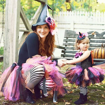 Witch Tutu, Witch Costume, Adult Witch, Baby Witch, Matching Witch, Mommy and Me, Group Costumes, Adult Tutu, Witch Hat, Halloween Tutu