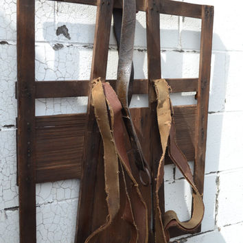 Antique Handmade Trappers Backpack Rustic Pack Board Rustic Wall Decor Cottage Chic Wall Decor Primitive Wall Decor Lodge Wall Decor