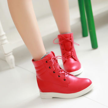 Lace Up Ankle Boots Women Shoes New Arrival