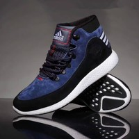 """""""Adidas"""" Men Sport Casual Fashion Multicolor Wear-resistant Mid High Help Basketball Shoes Sneakers Boots"""