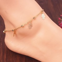 New Arrival Gift Cute Ladies Jewelry Sexy Shiny Stylish Tassels Anklet [8527528903]