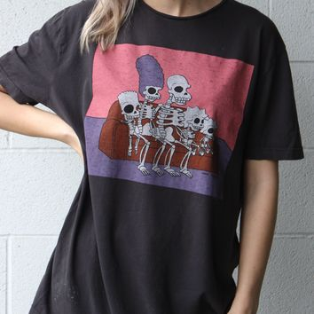 """Simpson Skeletons"" Vintage Tee"
