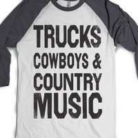 White/Asphalt T-Shirt | Cute Cowgirl Southern Shirts