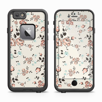Vintage Pink Rose Wallpaper Skin for the Apple iPhone LifeProof Fre Case