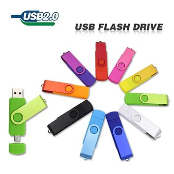 USB Flash Drive pen drive 4GB 8GB 16GB 32GB OTG pendrive external storage micro usb memory stick for Samsung for smart phone