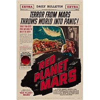 1952 science fiction MOVIE poster RED PLANET MARS worldwide terror 24X36