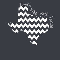 Custom Texas Chevron Comfort Color Short Sleeve T-shirt. Show Your state pride and state love