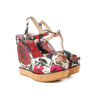 Jimmy Choo Floral Wedges
