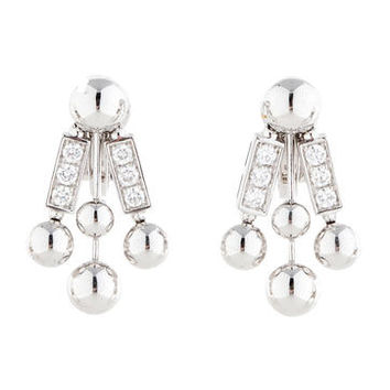 Bvlgari Diamond Rod Earrings