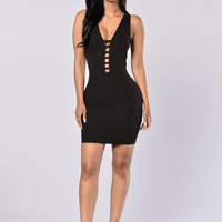 Pretty Woman Dress - Black