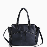 Zip Stitch Satchel Bag