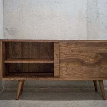 Solid Black Walnut Sideboard/ Credenza