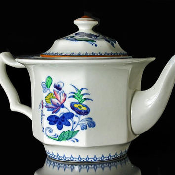 "RARE Booths ""Delft"" Teapot Silicon China Made in England  2 cups"