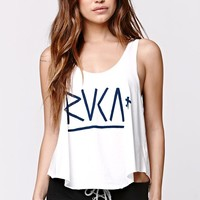 RVCA Tristan Scoop Tank - Womens Tee - White