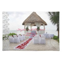 Gazebo On The Beach Wedding Placemat
