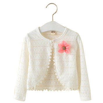 1-10Y Baby Cardigan Sweaters Cotton Polyester Thin Long Sleeve