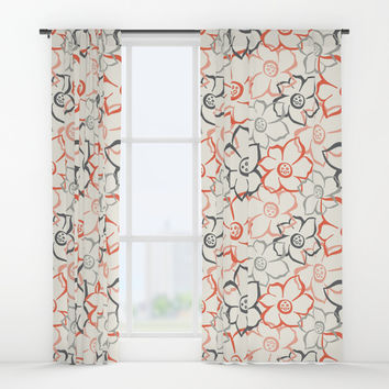 Bouquet Window Curtains by Heather Dutton