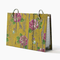 Index card binder, yellow weathered barnwood, recipe binder ~~~ 3 x 5 $9.00 and 4 x 6 $12.00