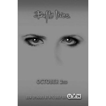 Buffy The Vampire Slayer poster Metal Sign Wall Art 8in x 12in Black and White