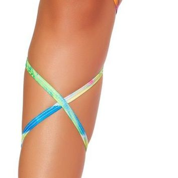 """Roma RM-3323 100"""" Tie Dye Leg Strap with Attached Garter"""
