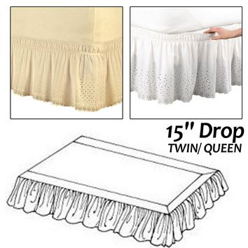 Cool Drop Twin/ Queen Hotel Elastic Bed Skirt 1.5m/2m Ruffled Romantic Bedspread Cover Without Surface for Wedding Use Bed DecorAT_93_12