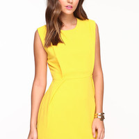 PLEATED MOD CREPE DRESS