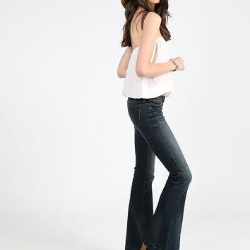 Buttoned Up Flare Jeans