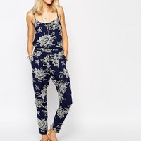 Abercrombie & Fitch Floral Print Strappy Jumpsuit