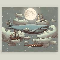 Ocean Meets Sky Art Print by terryfan on BoomBoomPrints