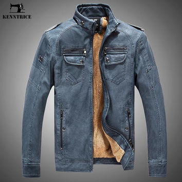 New Autumn Winter Coat Men Leather Jacket Inferno Sheepskin Coat Motorcycle Leather Jacket