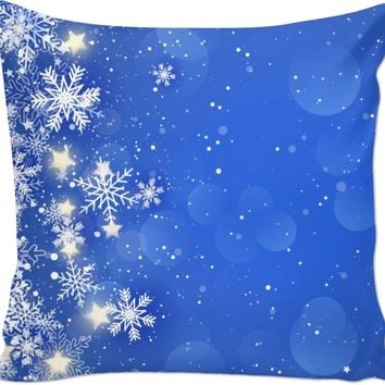 ROCP Blue Snowflake Couch Pillow